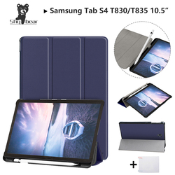 Shy Besr Case For Samsung Galaxy Tab S4 2018 10.5''T830 T835 SM-T835 10.5'' with Pen-slot Protective Stand Cover Case+gift