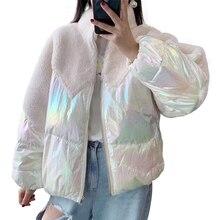 Manteau en duvet de canard 2019 réel manteau de fourrure veste d'hiver femmes naturel fourrure de mouton Streetwear chaud court Style vers le bas plumes manteaux