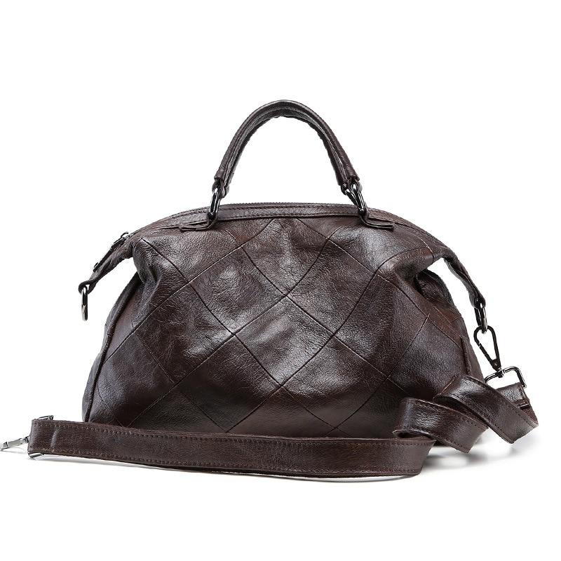 Sharasuna 2018 Vintage Plaid 100% Genuine Leather Shoulder Bags Handbags Women Famous Brands Luxury Handbags Women Bags Designer