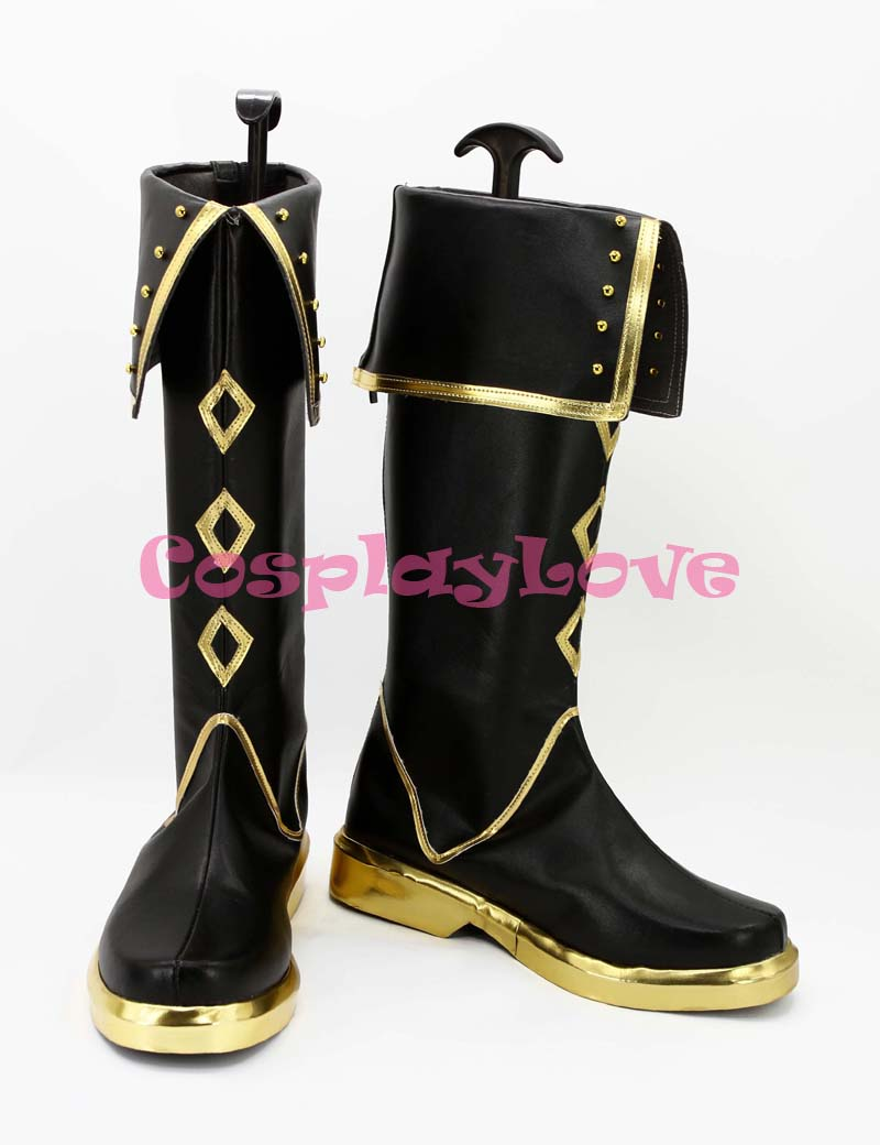 Custom Made Japanese Game Touken Ranbu Online Tachi Akashi Kuniyuki Cosplay Boots Cosplay Boots Shoes For Halloween Christmas