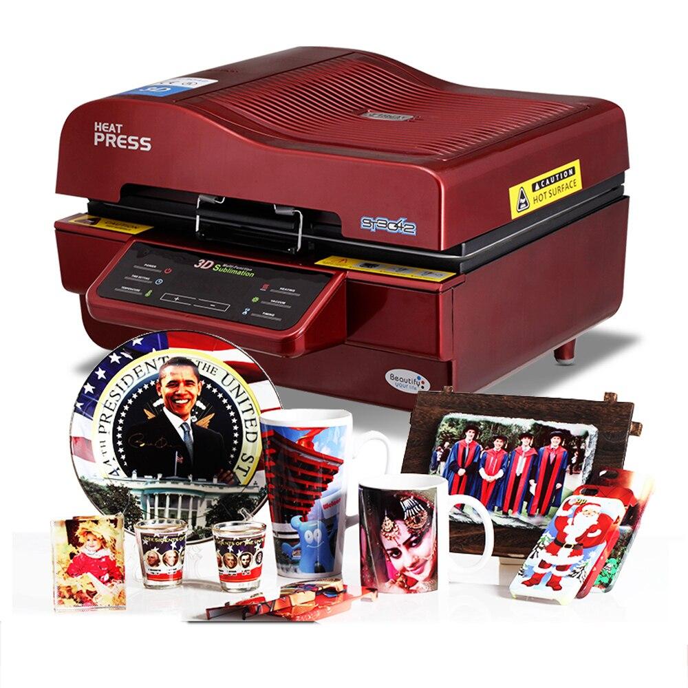 Hot vender 3D Vacuum Imprensa Do Calor Da Máquina de Impressão Da Impressora 3D Impressora Imprensa do Calor de Sublimação para Canecas Placas de Casos Óculos