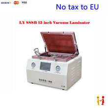 (EU Free Taxes!) Soft to Hard airbag type OCA machine LY 888B edge screen laminating machine with S6 S6+ S7 NOTE4 EDGE moulds
