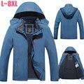 Plus Size 6XL 7XL 8XL Jaqueta de Inverno Dos Homens De Veludo Marca Parka Homens Jaqueta Impermeável À Prova de Vento Velo Jaqueta Corta-vento Homens CF018