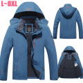 Plus Size 6XL 7XL 8XL Winter Jacket Men Velvet Brand Parka Jacket Men Waterproof  Windproof Fleece Jacket Windbreaker Men CF018