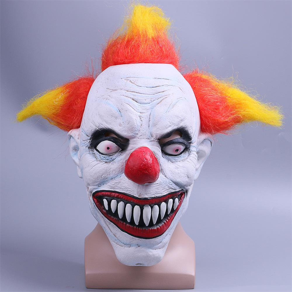 2017 Joker Clown Mask Horror Mask Creepy Evil Scary Halloween Clown Mask Adult
