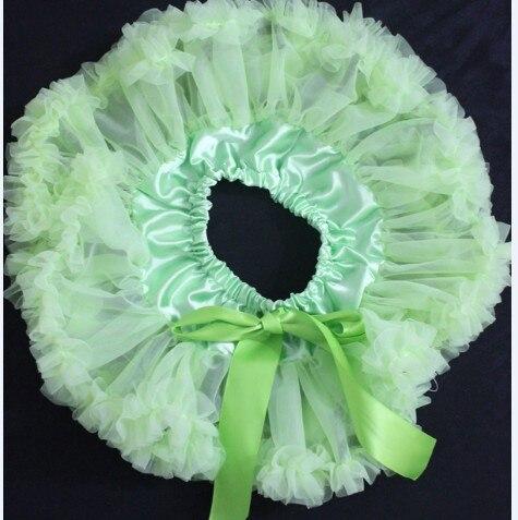 Пышная юбка для малышей Мягкая шифоновая Пышная юбка-пачка для малышей Юбка-пачка для маленьких девочек детская одежда юбка-пачка для новорожденных - Цвет: lime green