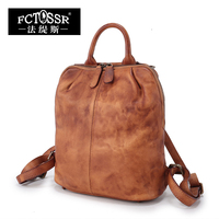 New Arrival 100 Genuine Leather Women Backpack 2017 Fashion Soft Handle Vintage With Handmade Ladies High