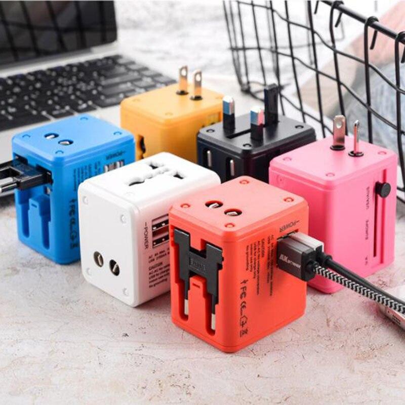 Mycyk 6 colores Multi-función enchufe USB multifunción Conversión de negocios multi-propósito universal viaje enchufe 1/2 usb en la UE Cable de alimentación de referencia dorada de CARDAS OFC, Cable de alimentación EU Schuko AC, Figura 8 Oyaide P-079E/P-079/C-079, conector MK Vinshle