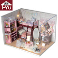 Doll house furniture miniatura diy doll houses miniature dollhouse wooden handmade toys for children grownups birthday gift  TW5