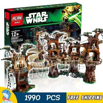 1990pcs New Space Wars Ewok Village unique Tree House 05047 DIY Figure Building Blocks Kit  Toys Compatible with lago