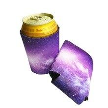 1 шт., чехол с изображением Галактики, держатель для банки, пива, вина, напитков, питьевой бутылки, вечерние, для украшения дома, посуда для напитков, чехол