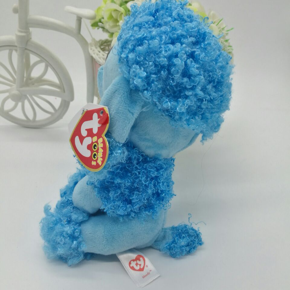 5863eff5542 MANDY blue poodle TY BEANIE BOOS collection 15CM 6