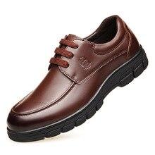 Simples de luxo business casual respirável wearable Napa de couro dos homens sapatos de couro cor Sólida pés solas grossas sapatas dos homens