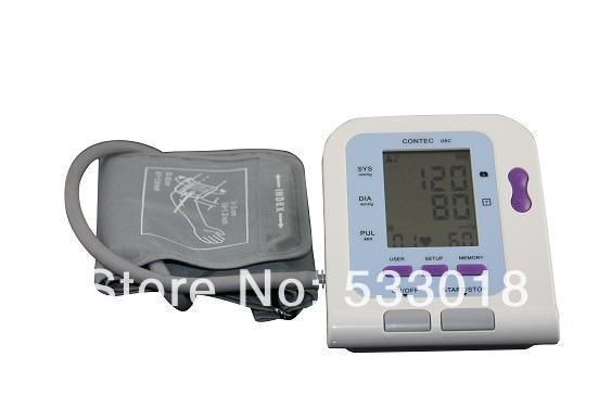 2014 NewCONTEC08C Adult Cuff Digital Automatic NIBP Blood Pressure Monitor Sphygmomanometer Free Shipping free shipping nibp extension tube nibp hose tube for ge monitor nibp cuff connector tpu double nibp hose connector