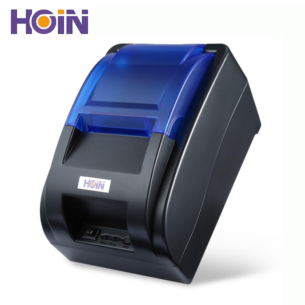 """HOIN הופ-H58 הדפסת מכונה קבלת מדפסת תרמית קופה 58 מ""""מ 70 מ""""מ\שנייה חיבור USB תמיכה"""