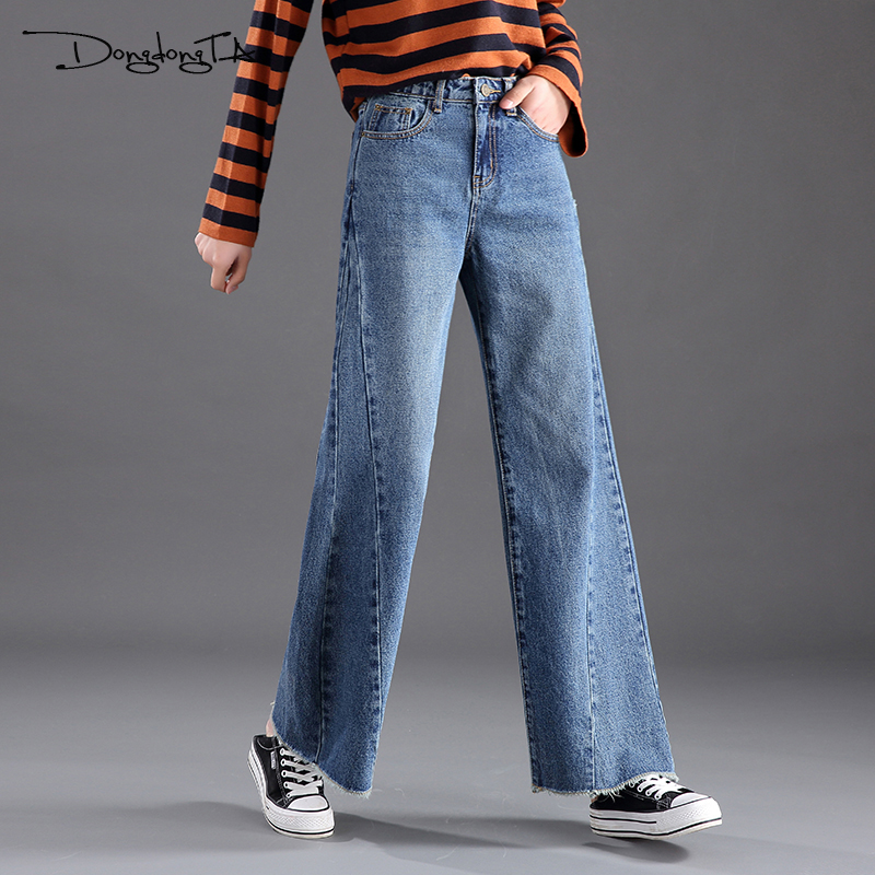 Wide Leg Pants Jeans Women 2018 New Fashion Straight Loose Casual Denim Ladies Trousers Full Length High Waist Feminino Jeans autumn women fashion jeans high waist button denim jeans full length pencil pants feminino trousers
