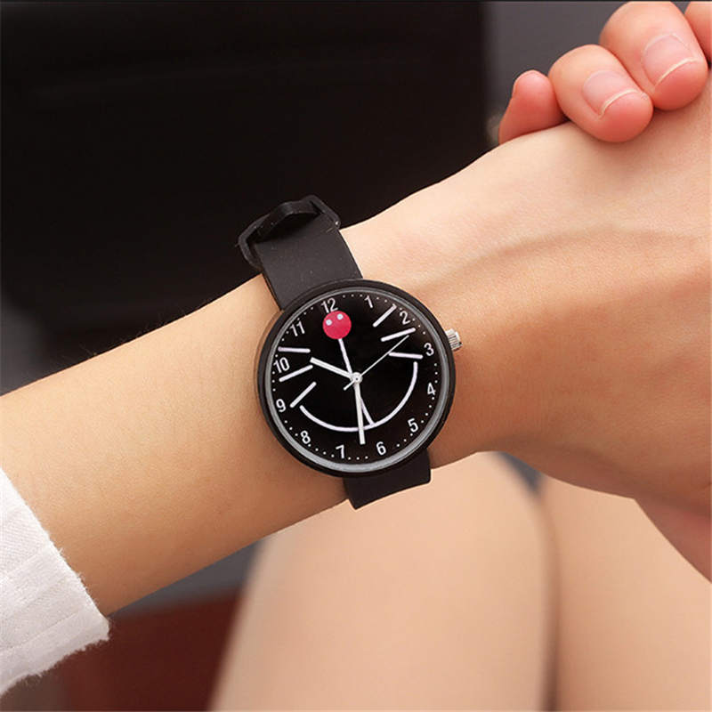 Cartoon Smiley Watch Fashion Children's Watches Small Size Child Wristwatch Cat Boy Girl Student Clock Kid Baby WATCH Birthday G