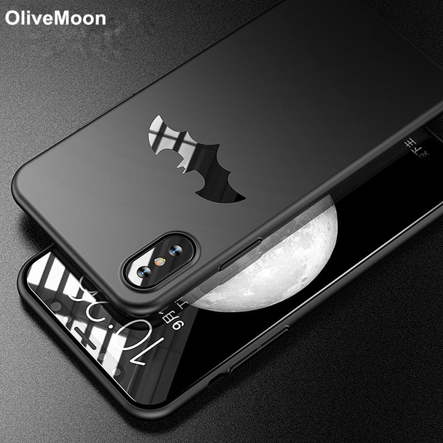 huge selection of 75121 1d883 Phone X Slim Batman Phone Case For iPhone X 6 7 8 Plus Cover Matt Hard PC  Phone Back Capa For iPhone XS MAX XR XS Cases Fundas