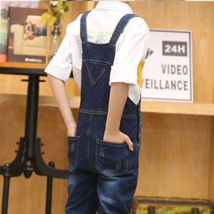Image 4 - 2020 junge Insgesamt Kinder Denim Overall Kinder Overalls Jeans Frühling Mädchen Herbst Jungen Jeans Hosen Cowboy Taschen Outwears 2 15T