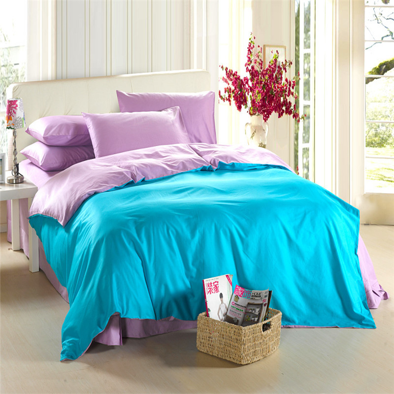 Aliexpresscom Buy Fashion Solid Color Home Textile Black And - Blue solid color king size comforter