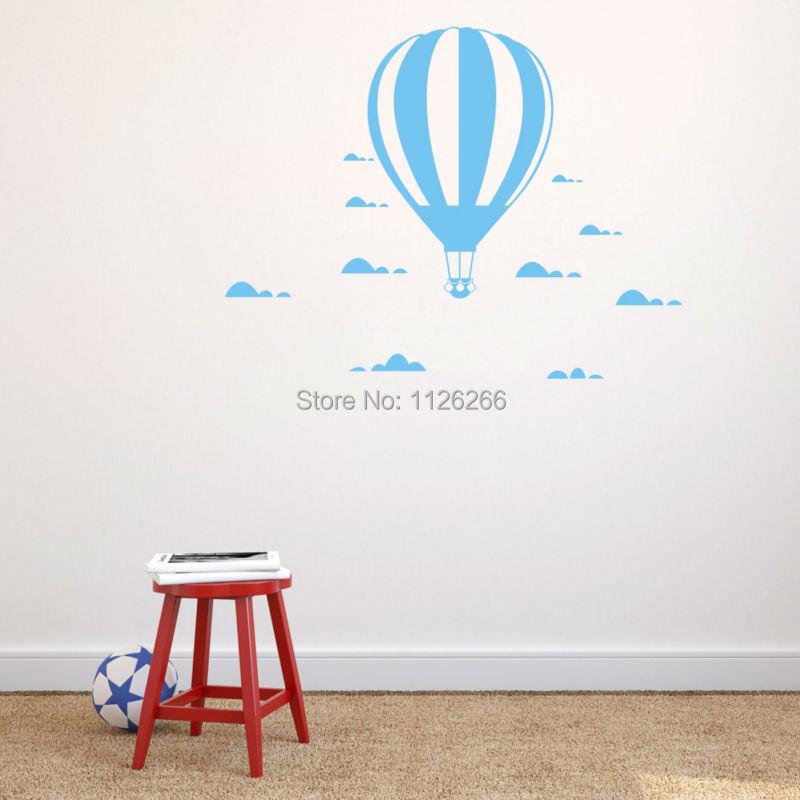 İsti hava balonu divar yapışdırıcıları Uşaq otağı ev - Ev dekoru - Fotoqrafiya 1