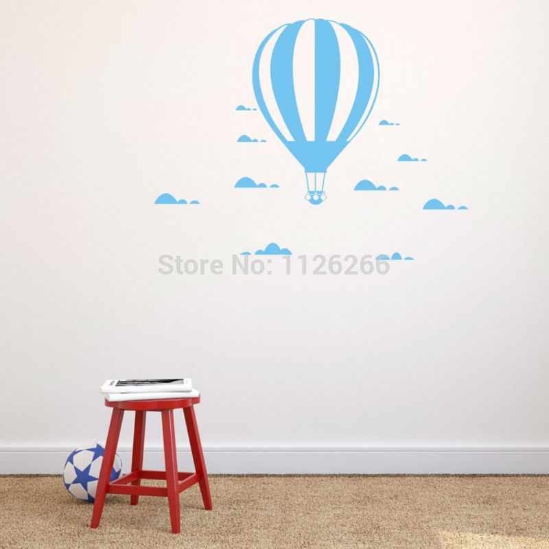Hot Air Balloon Wall Αυτοκόλλητα DIY Σύννεφα Poster - Διακόσμηση σπιτιού - Φωτογραφία 1
