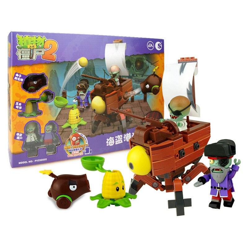 [Jkela] Tanaman VS Zombie Masa Depan Dunia Bajak Laut Adegan Edisi - Mainan bangunan dan konstruksi - Foto 4