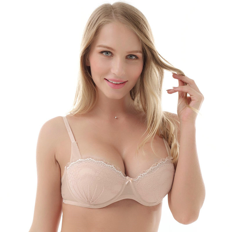 Everyday Strappy Bra Push Up underwear  Lace 1/2 Cup Lingerie 32B 32C 34B 34C 36B 36C 38B/C  Underwire Cup Padded For Women Bra