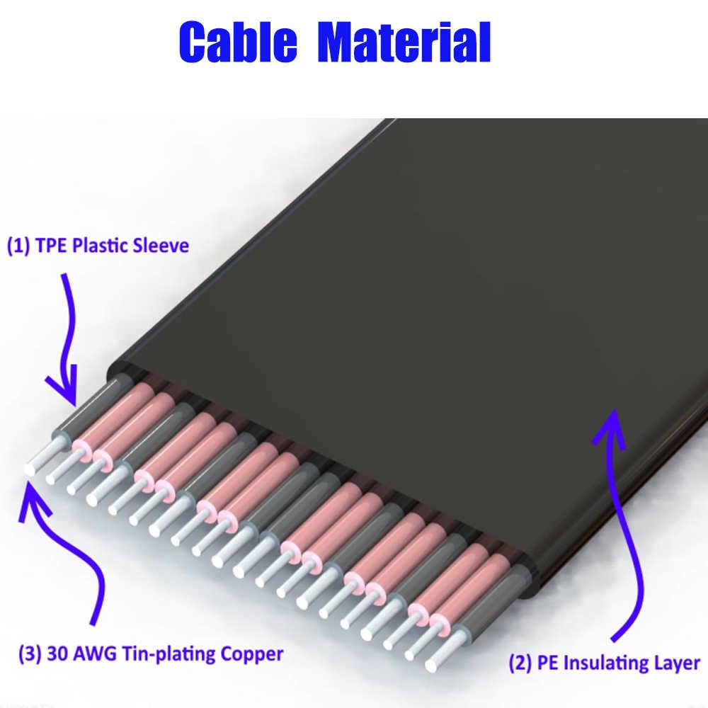 PCI-E 1X إلى 16X محول بكيي مرنة شقة تمديد كابل PCI اكسبرس 1 إلى 16 X محول الناهض بطاقة بكيي موسع ل BTC التعدين