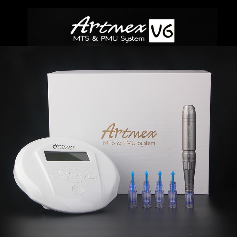 Original Permanent Makeup machine Artmex V6 Eye Brow Lip Rotary Pen Tattoo Digital Machine for MTS PMU with tattoo needle machine