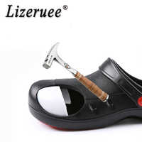 Lizeruee High Quality Non-slip Kitchen Work Shoes Oil-Proof Water-Proof for the Chef Master Cook Hotel Restaurant Slippers Shoes