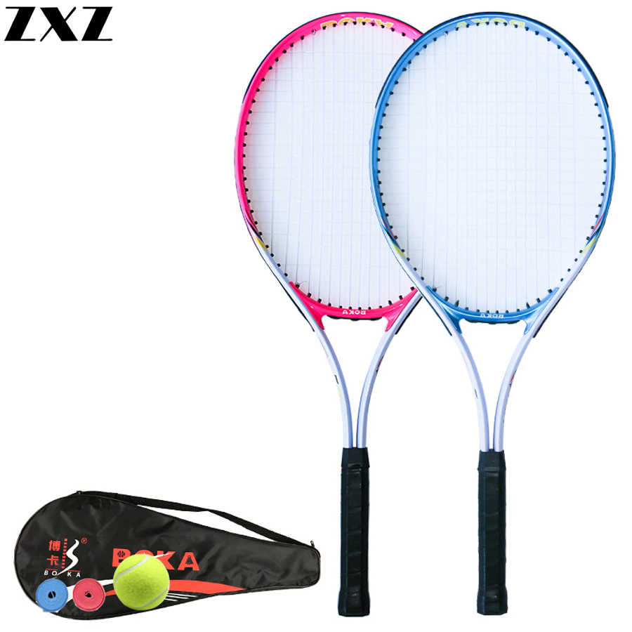 Carbon Aluminum Alloy Fiber Tennis Racket Racquets Equipped with Bag Tennis Grip Racchetta Da Tennis Rackets Sports for Matches
