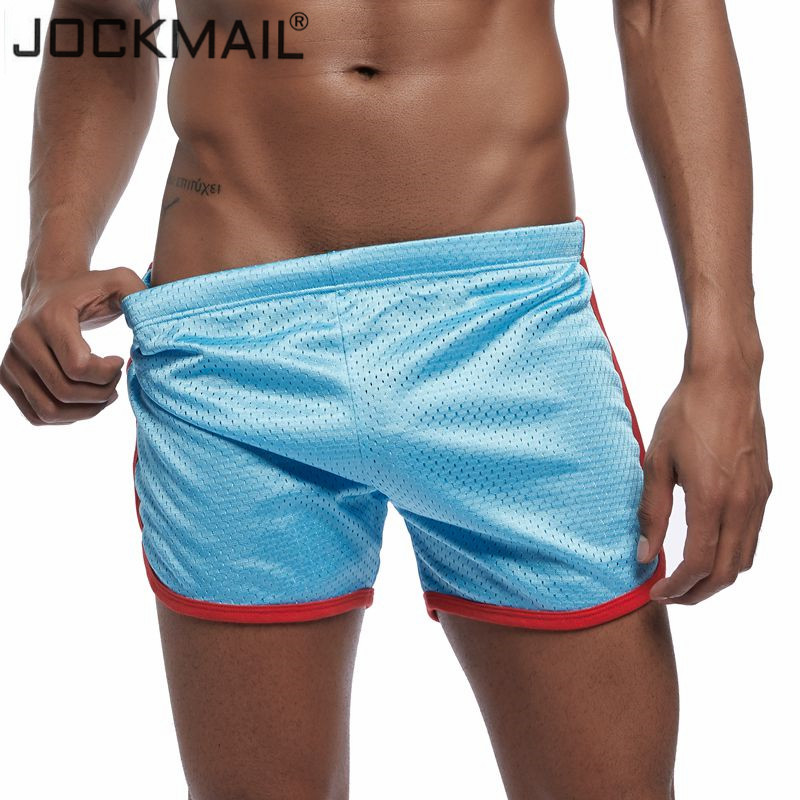 JOCKMAIL Mesh Breathable Quick-drying Sexy Men Beach Board Shorts Sportswear Pants Gay Short Fitness Workout Plus Size M-3XL