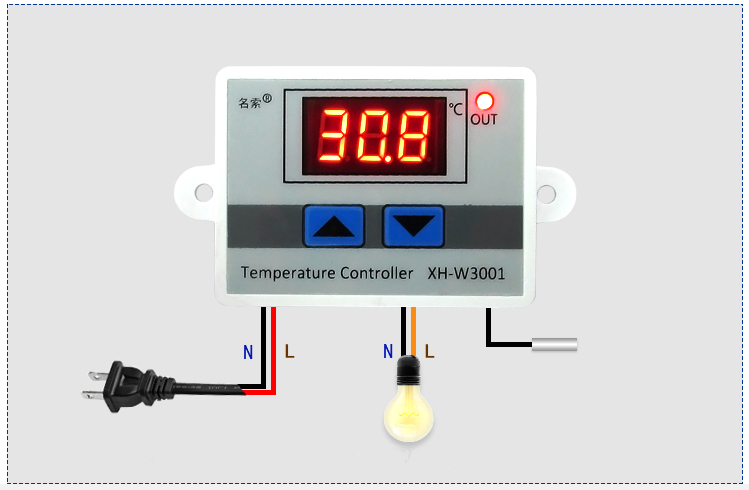 Thermostat Switch 12/24/220V Digital Control Temperature Microcomputer Thermostat Switch Thermometer Temperature Sensor Hot Sale