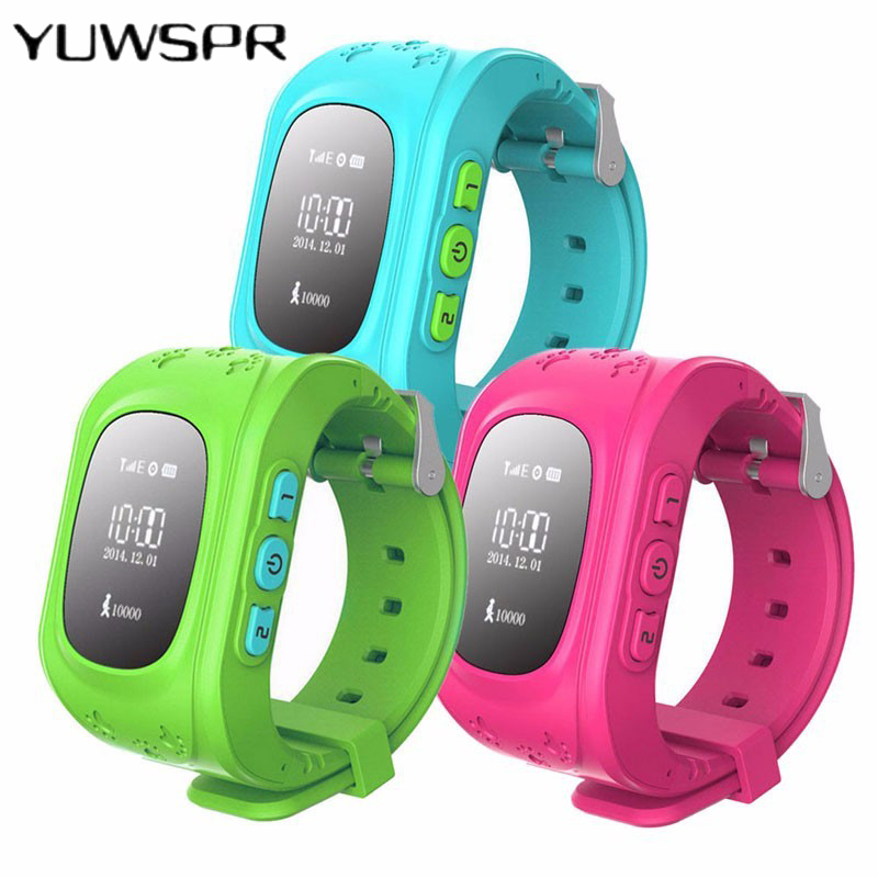 Watch Bracelet Gps-Tracker Q50 Wristband Kids Anti-Lost Location-Locator Led-Screen Sos-Call