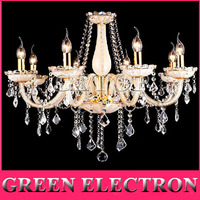 European Pastoral Crystal Chandelier Mediterranean Living Room Lights Restaurant Bedroom Crystal Lamp Modern Lighting Fixtures