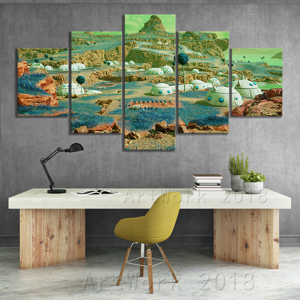 Dragon Ball Namek World Game Scene Landscape Frameless Painting JUMP FORCE Video Games Art Canvas Paintings Wall Art Home Decor 1