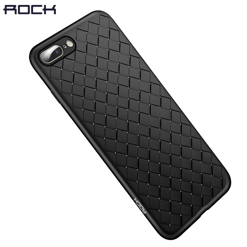 For iPhone 8 7 Case, ROCK Slim Thin Soft Case For iPhone7plus 8plus Back Cover Weave Protector TPU Shell ...