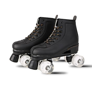 Bstfamly Adult Double Row Skates Roller Skate Sneakers Two Line Skating Shoes Black White 4 Pu Wheels Men Women Slippers Ib109 Buy At The Price Of 79 45 In Aliexpress Com Imall Com