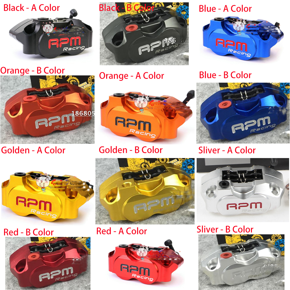 Motorbike Brake Caliper Motorcycle cylinder hydraulic pump calipers racing street for Vespa Honda Yamaha bike Disc Radial brake title=