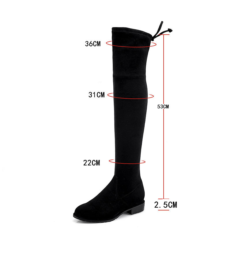 5663446dea1 Thigh High Boots High Heel Womens Black PU Leather Over Knee Boots