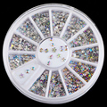6 Projeto Brilhante AB Arco de Acrílico Gotas de Água Decorações Da Arte Do Prego Pontas do prego 3D Encantos Unhas DIY Glitter Roda Manicure M01688