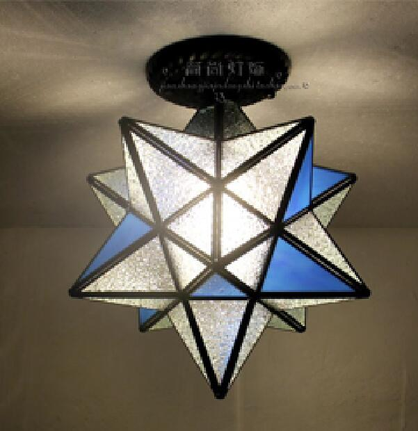 Tiffany star personality creative ceiling lamp living room bedroom restaurant bar corridor porch balcony simple floating DF58 tiffany baroque retro stained glass pendant light restaurant bedroom living room corridor porch lamp
