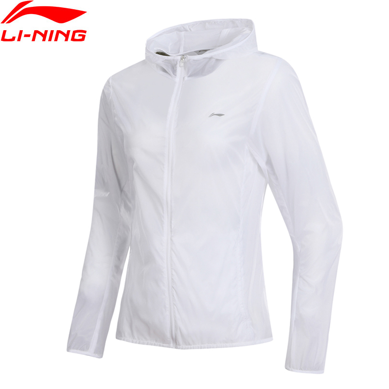 Li Ning Women Running Jackets Regular Fit 100 Nylon Breathable LiNing Hooded Sport Coats AFDN406 WWF904