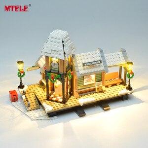 Image 3 - Набор светодиодсветильник ильников MTELE для зимней деревенской станции, набор светильников, совместимый с серии Creator 10259 (модель в комплект не входит)