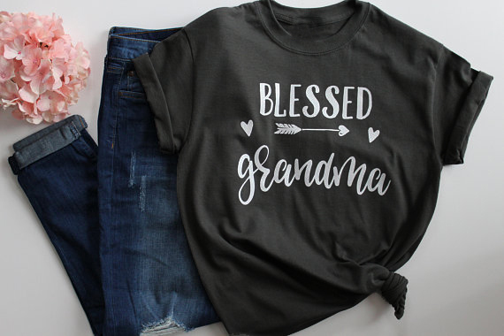41d002c6 Blessed Grandma T-Shirt Mothers Day Gift Women's Fashion Clothes tshirt  Summer funny graphic t