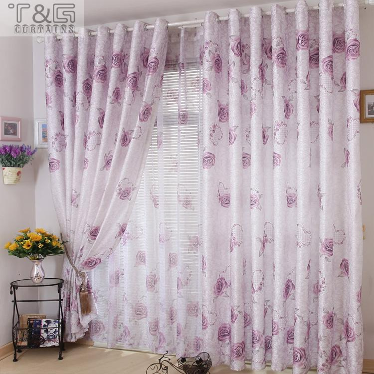 2014 Modern Lilac Curtains Cheap Beautiful For Living Room Bedroom Free Shipping