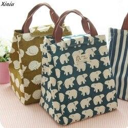 Xiniu 2018 Wasserdicht Mittagessen Tasche für Frauen kinder Männer Kühler Lunch Box Tasche Tote leinwand mittagessen tasche Isolierung Paket Tragbare