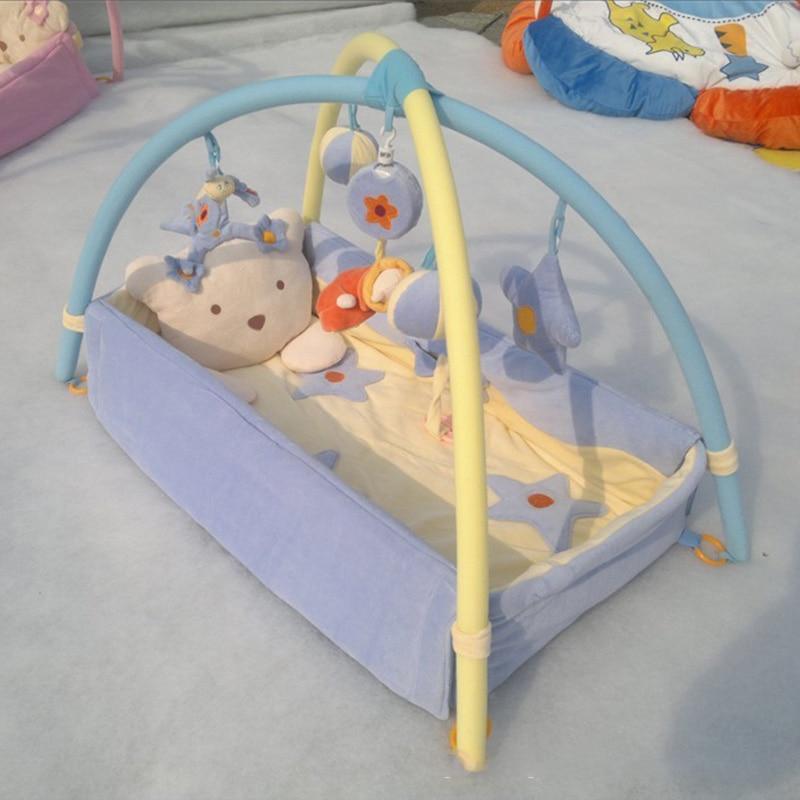 Ребенка играть мат ползет детские игры пера игрушки хлопок пояс Мягкий кровать окружающих