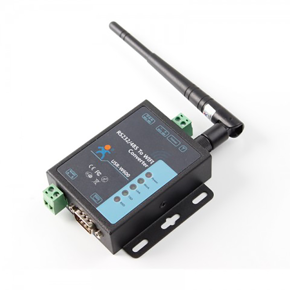 USR-W600 Industrial Serial Server RS232 RS485 to WiFi Converter Wireless Data Transmission Connection TCP/UDP HTTPD Client Q172 freeshipping rs232 to zigbee wireless module 1 6km cc2530 chip
